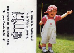 Service De Netoiement De La Ville De Moissac Présente Ses Meilleurs Voeux 1998 - Enfant Golfeur  Fotostock - Kalender