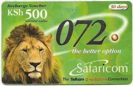 Kenya - Safaricom - Lion 072, Exp. 30.06.2003, 500KShs, Used - Kenya
