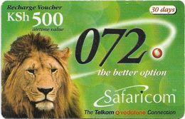 Kenya - Safaricom - Lion 072, Exp. 31.03.2003, GSM Refill 500KShs, Used - Kenya