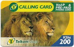 Kenya - Telkom Kenya - Lions #1, Exp. 08.01.2009, Remote Mem. 200KShs, Used - Kenya