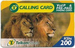 Kenya - Telkom Kenya - Lions #1, Exp. 14.05.2009, Remote Mem. 200KShs, Used - Kenya