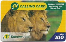 Kenya - Telkom Kenya - Lions #2, Exp. 19.10.2009, Remote Mem. 200KShs, Used - Kenya