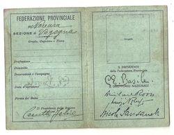 "8582 ""ASSOCIAZIONE NAZIONALE COMBATTENTI N° 280395 DEL 1932-FED. PROV. DI NOVARA "" - Documents"