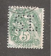 Perforé/perfin/lochung France No 111 SL Sté Lyonnaise De Dépôts (131) - France