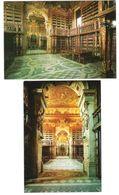 Portugal - 2 Cards - Coimbra - Biblioteca Universite - Bibliothek - Library - Bibliotheque - Bibliotecas