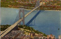 New York City The George Washington Bridge Curteich - Ponts & Tunnels