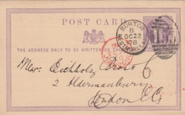 GB England Privat Postcard 1878 - 1840-1901 (Regina Victoria)