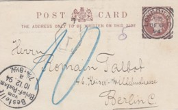 GB England Privat Postcard 1894 - 1840-1901 (Regina Victoria)