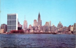 New York City Skyline Showing United Nations Building From East River - Multi-vues, Vues Panoramiques