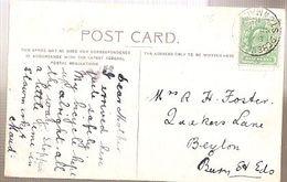 England & Marcofilia, Near Capel Curig,Stowmarket To Beyton 1910 (5772) - Storia Postale