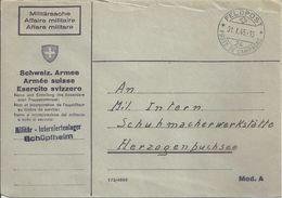 """Feldpost Brief  """"Militär Interniertenlager Schüpfheim""""             1945 - Documenti"""