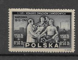 1945 MNH Poland Mi 413 - Nuovi