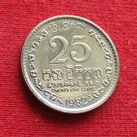 Sri Lanka 25 Cents 1982 KM# 141.2 - Sri Lanka