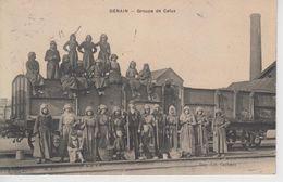 CPA Denain - Groupe De Cafus (très Jolie Scène) - Denain