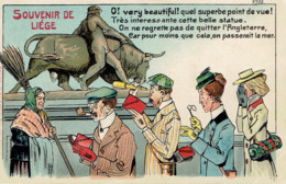 Souvenir De Liege Carte Embossée  Marcovici - Liege