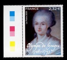 France 2020 - Neuf - Y&T N° 5409 - Olympe De Gouges - Bord De Feuille - Scanné Recto Verso - Cruz Roja