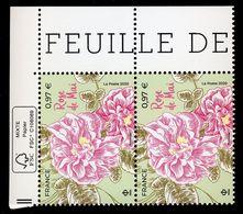 France 2020 - Neuf - Y&T N° 5402 - Nature - Rose De Mai - Paire Horizontale - Coin De Feuille - Scanné Recto Verso - Cruz Roja