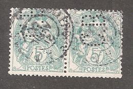 Perforé/perfin/lochung France No 111 C.B. Cie De Béthune - Gezähnt (Perforiert/Gezähnt)