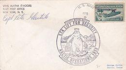 SEA LIFT FOR SECURUTY ARCTIC OPERATIONS 1958. OPERATION DEEP FREEZE. USA ENVELOPEE SIGNEE CAPT PETER -LILHU - Polar Philately