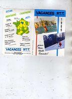 Vacances P.T.T - Ocean  Montagne  Campagne  Mer - 01 Bourg En Bresse - 1989 - Calendars