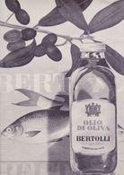 (pagine-pages)PUBBLICITA' OLIO BERTOLLI   Gente1964/17. - Books, Magazines, Comics