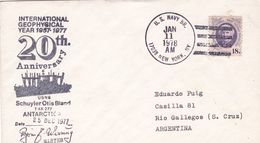 20th ANNYVERSARY INTERNATIONAL GEOPHYSICAL YEAR 1957 - 1977. ANTARCTIC. USA ENVELOPEE SIGNEE, ANNEE 1978 -LILHU - Polar Philately