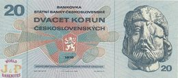 CZECHOSLOVAKIA 20 KORUN 1970 PICK 92 UNC - Checoslovaquia