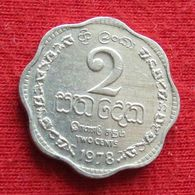 Sri Lanka 2 Cents 1978 KM# 138 - Sri Lanka