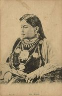 Tibet Thibet, Hill Woman, Jewelry Necklace (1910s) Postcard - Tíbet