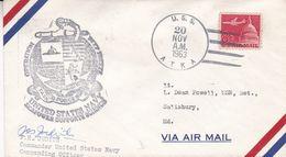 OPERATION DEEP FREEZER, UNITED STATES NAVY. ANTARCTIC USA ENVELOPEE SIGNEE J H JUDIT, ANNEE 1963 -LILHU - Polar Philately