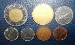 Lot De 7 Pièces Du Canada (prix Port Compris En Suivi) - Coins & Banknotes