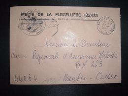 LETTRE MAIRIE OBL.27-6 1975 85 LA FLOCELLIERE VENDEE - Marcofilia (sobres)