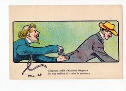 113 - HUMOUR - Chapeau, Habit D'extrême élégance ...  Tailleur *mode* - Humour
