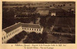 9 - Villeblevin (Yonne) Propriété De La Caisse Des écoles Du XIIe Arrondissement - La Grande Colonie  Vue Sur Le Potager - Escuelas