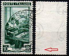 Italia Al Lavoro Con Filigrana Lettere - 10 Lire Ruota 3° SA - 1946-.. République