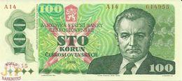 CZECHOSLOVAKIA 100 KORUN 1989 PICK 97 UNC - Checoslovaquia