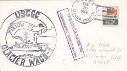 USCGC GLACIER WAGB-4. INTERNATIONAL WEDDELL SEA OCEANOGRAPHIC EXPEDITION - 1969. USA ENVELOPEE -LILHU - Polar Philately