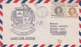 OPERATION DEEP FREEZE, UNITED STATES NAVY. USA ENVELOPEE CIRCULEE AN 1962, POLE STATION ANTARCTICA -LILHU - Polar Philately