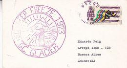DEEP FREEZE 1973. USCGC GLACIER. USA ENVELOPEE CIRCULEE ANNEE 1973, A BUENOS AIRES -LILHU - Filatelia Polar