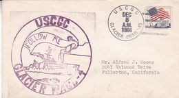 USCGC GLACIER WAGB - 4. USA ENVELOPEE CIRCULEE ANNEE 1966, A FULLERTON -LILHU - Filatelia Polar