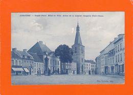 Jodoigne - Grand Place - Hôtel De Ville - Arbre De La Liberté - Chapelle Notre-Dame. - 2 Scans. - Jodoigne