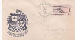 OPERATION DEEP FREEZE, UNITED STATES NAVY. USA ENVELOPEE CIRCULEE ANNEE 1962, GLACIER AGB-4 A NEW YORK -LILHU - Filatelia Polar