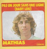 Disque Vinyle 45 Tours : MATHIAS : PAS UN JOUR SANS UNE LIGNE..Scan A  : Voir 2 Scans - Vinyles