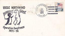 USCGC NORTHWIND, OPERATION DEEPFREEZE 1971 - 1972. USA ENVELOPEE ANNEE 1971 U.S.C.G. CUTTER NORTHWIND -LILHU - Polar Philately