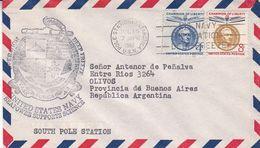 OPERATION DEEPFREEZE, UNITED STATES NAVY. USA ENVELOPEE ANNEE 1962 POLE STATION ANTARCTICA -LILHU - Filatelia Polar
