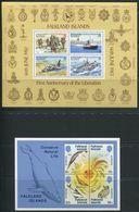 FALKLAND -  B.F. N° 3 & 4 - * * - 1er ANNIVERSAIRE LIBERATION & PRESERVATIONDE LA NATURE - LUXE - Falkland Islands