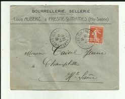 70 - Haute Saone - Fresne St.Mamès - Enveloppe Timbrée -Louis Aubert - Bourrelier  - Philatélie - Réf.43 - Frankreich