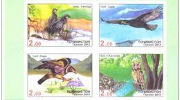 Tajikistan 2013 MiNr. 643b - 646b  Tadschikistan Birds Owls Eagles Partriges 4v ND MNH** 45,00 € - Tadjikistan