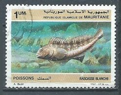Mauritanie YT N°602 Rascasse Blanche Oblitéré ° - Mauritania (1960-...)
