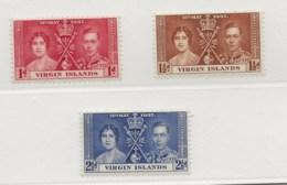 British Virgin Islands, 1937, SG 107 - 109, Mint Lightly Hinged - British Virgin Islands